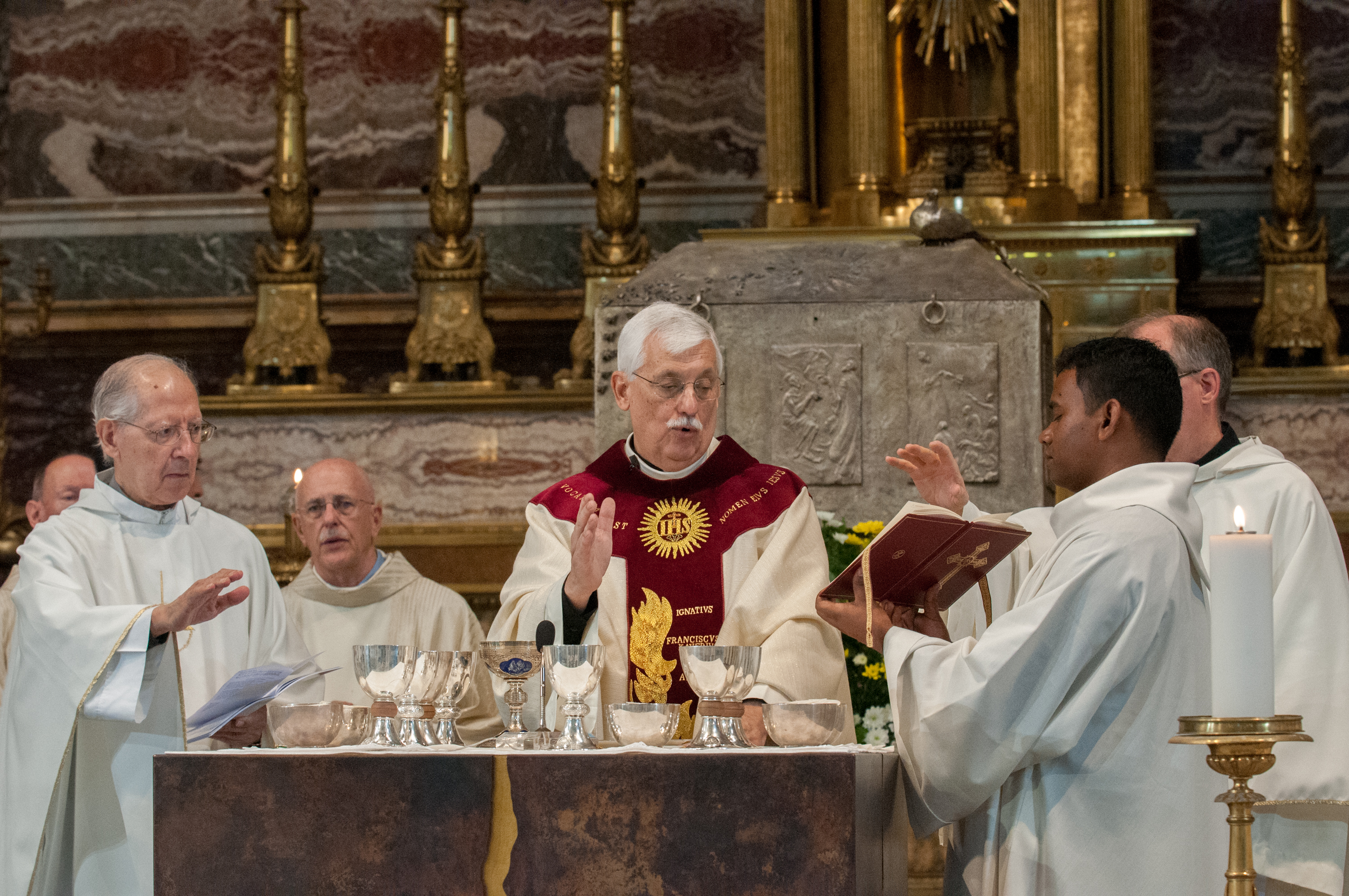 The Superior General of the Jesuits, Fr. Arturo Sosa, S.J., celebrated the mass of Thanksgiving at the Gesu, the mother church of the Society of Jesus