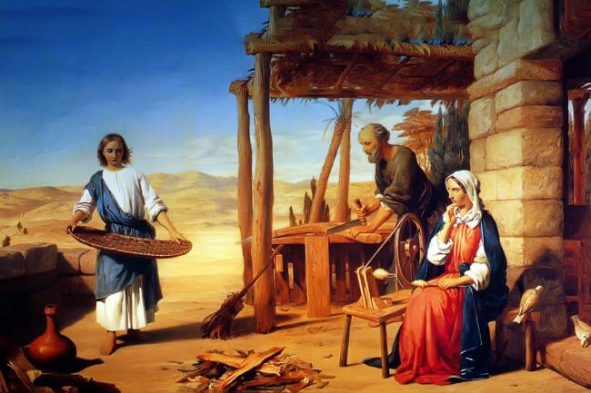 Thánh Giuse lao động để chăm sóc gia đình